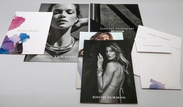 Offset printed catalogs for David Yurman